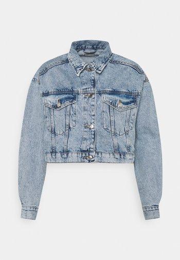 CROPPED JACKET - Denim jacket - blue