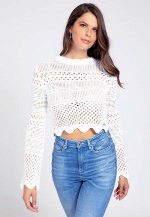 JAQUARD - Pullover - weiß