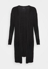 Even&Odd - BASIC- long cardigan - Cardigan - black - 4