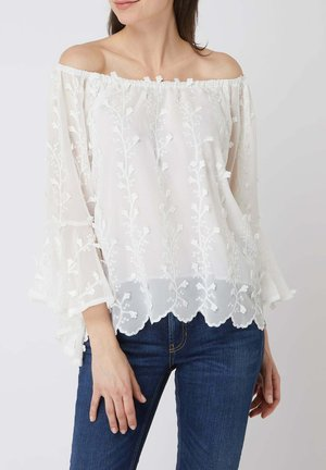 IM OFF-SHOULDER-LOOK - Blouse - offwhite