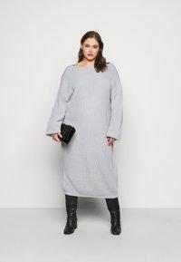 Glamorous Curve - LACE TRIM JUMPER DRESS - Jumper dress - light grey - 1