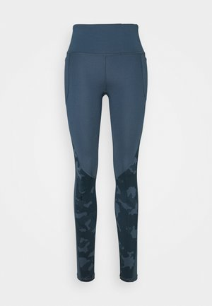 CAMO LEGGING - Medias - mechanic blue