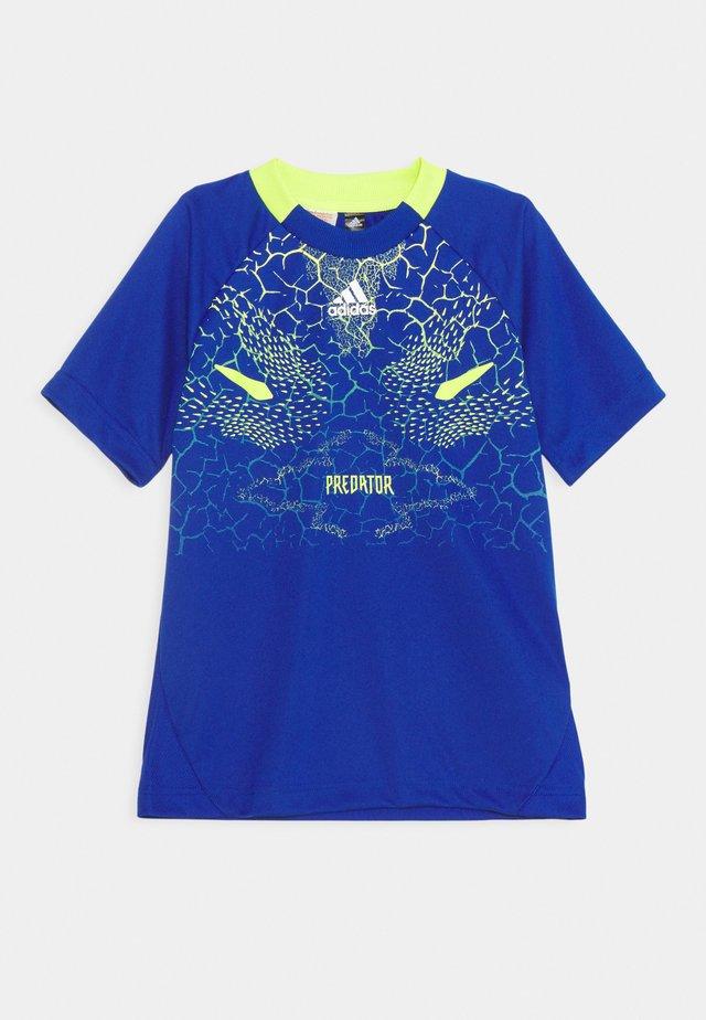 TEE - Print T-shirt - team royal blue/semi solar yellow