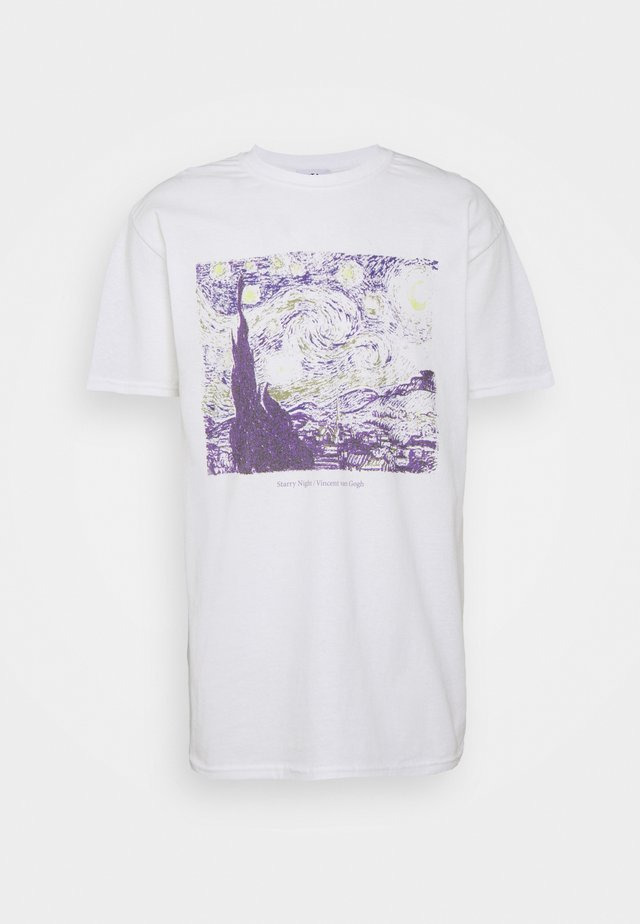 VINCENT VAN GOGH ART PRINT TEE - T-shirt con stampa - white