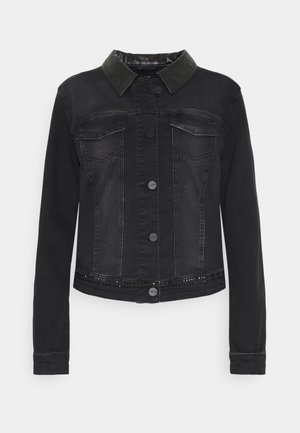 LANGARM - Denim jacket - black