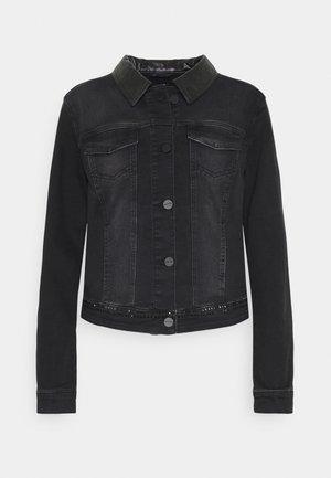 LANGARM - Džínová bunda - black