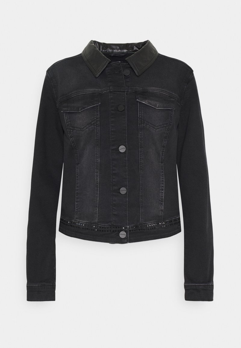 comma - LANGARM - Denim jacket - black