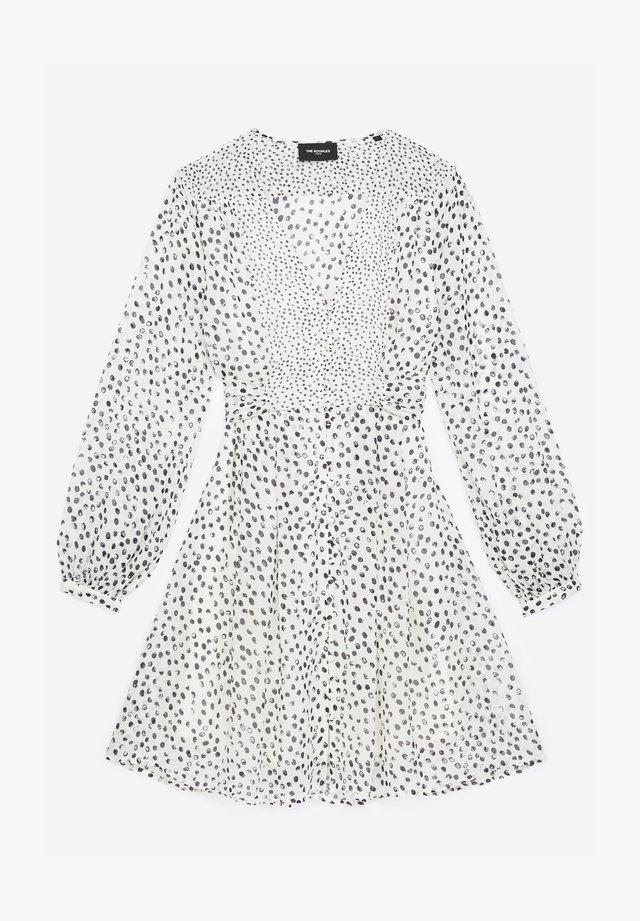 Sukienka koszulowa - white / navy