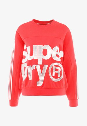 ATHLETICO CROP CREW - Sweatshirt - red