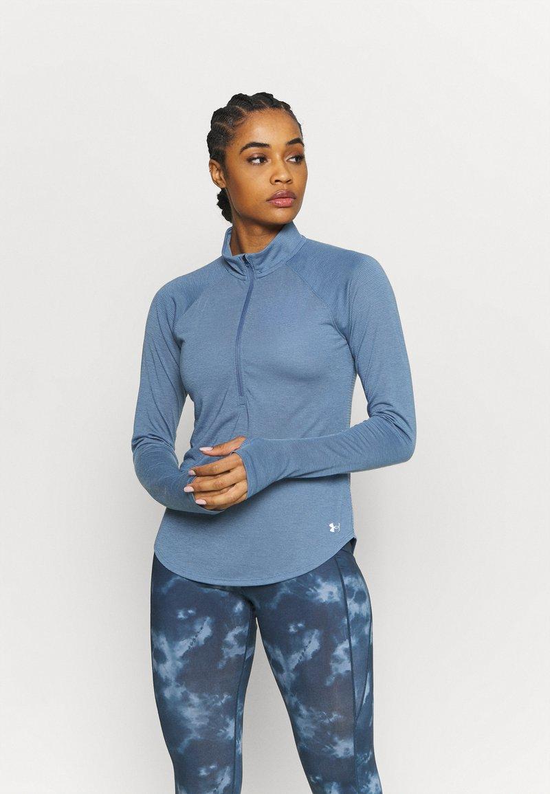 Under Armour - STREAKER HALF ZIP - Long sleeved top - mineral blue