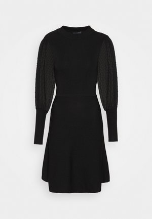 DOBBY SLEEVE DRESS - Jumper dress - black
