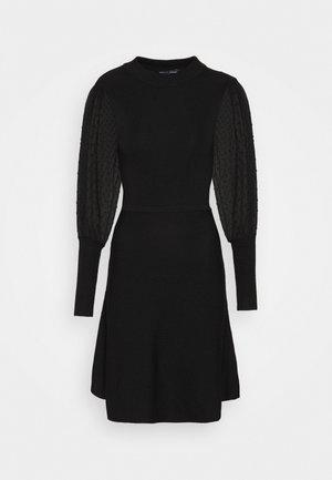 DOBBY SLEEVE DRESS - Jumper dress - black