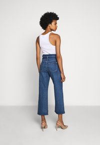 7 for all mankind - CROP ALEXA PAPERBAG  - Jeans Bootcut - dark blue - 2