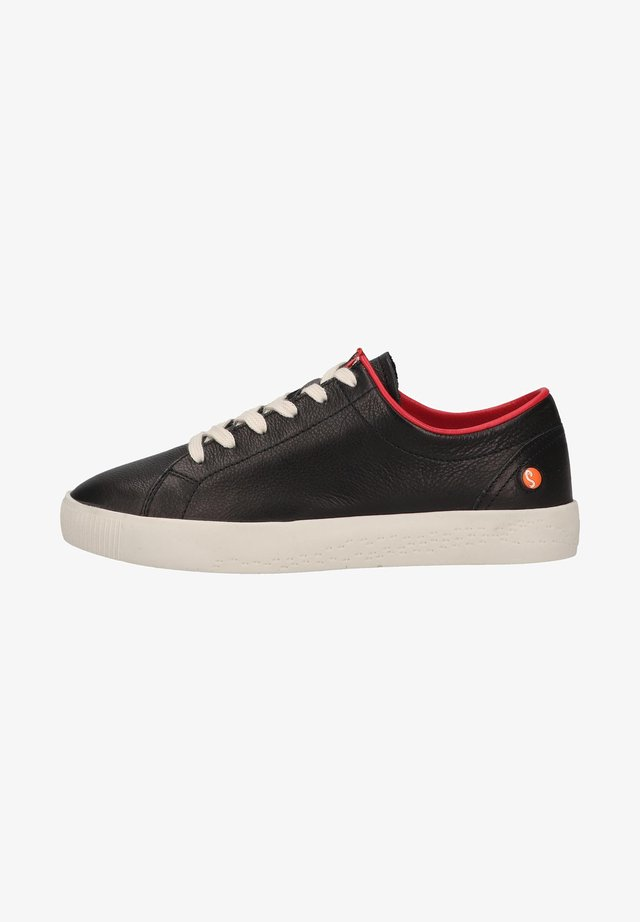 Sneakers laag - black/cherry red