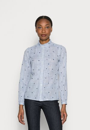 CAMISA LIGERA - Button-down blouse - medium blue