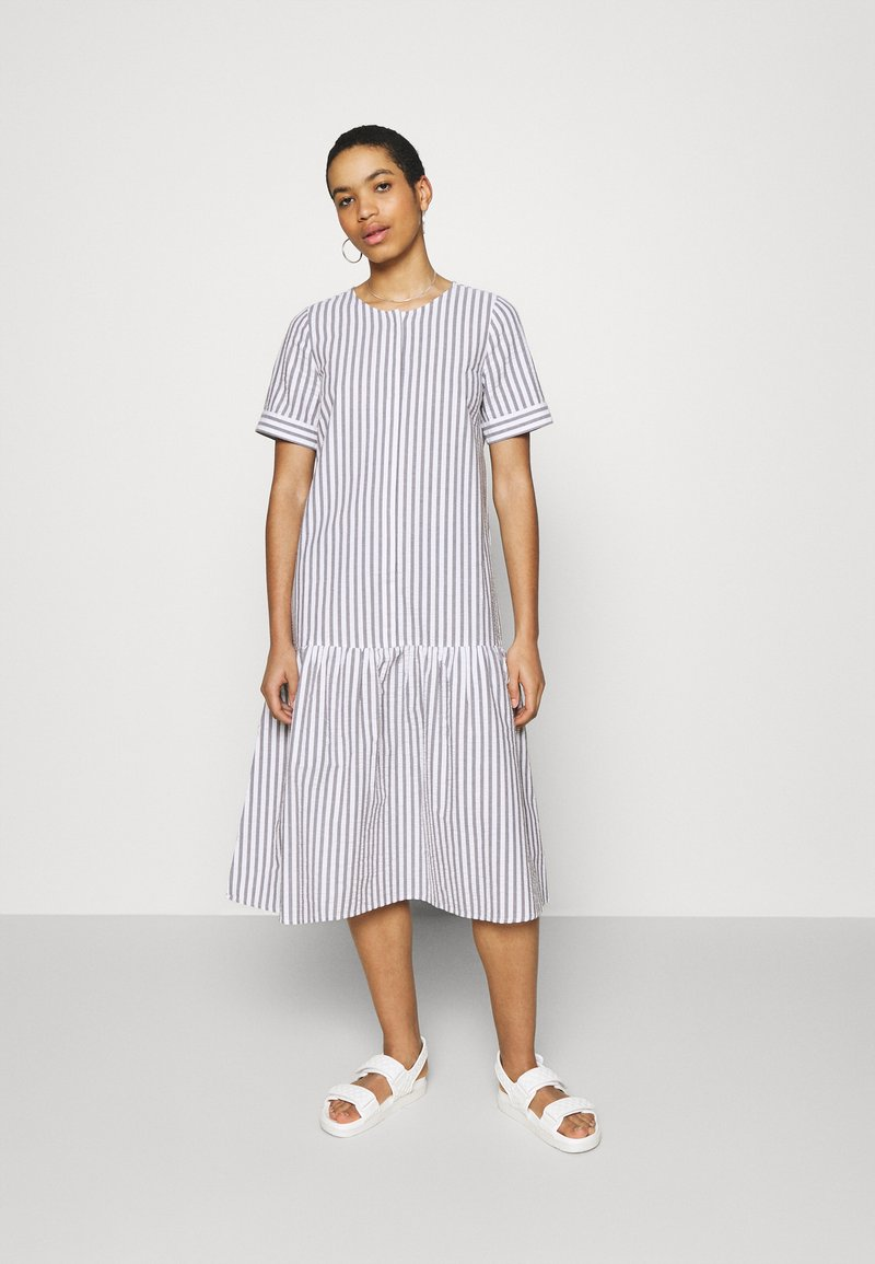 JUST FEMALE - RIALTO PLACKET DRESS - Day dress - pavement