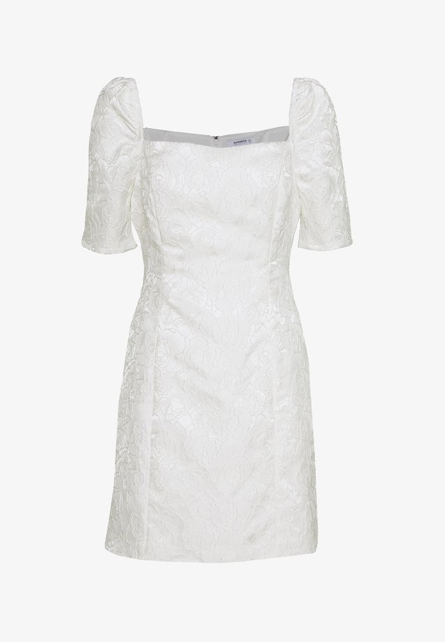 BARDOT BROCADE MIDI DRESS - Robe de soirée - white