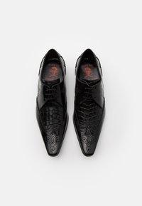 Jeffery West - PINO WINGCAP INSERT - Šněrovací boty - college black/antique black - 3