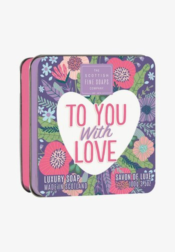 THE SCOTTISH FINE SOAPS COMPANY TO YOU WITH LOVE SOAP IN A TIN - Soap bar - -