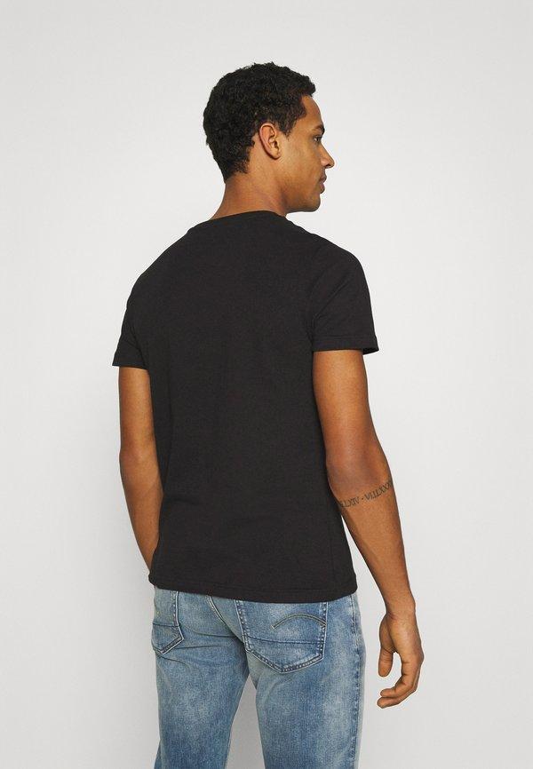 Tommy Jeans TONAL NY TEE UNISEX - T-shirt z nadrukiem - black/czarny Odzież Męska UPWO