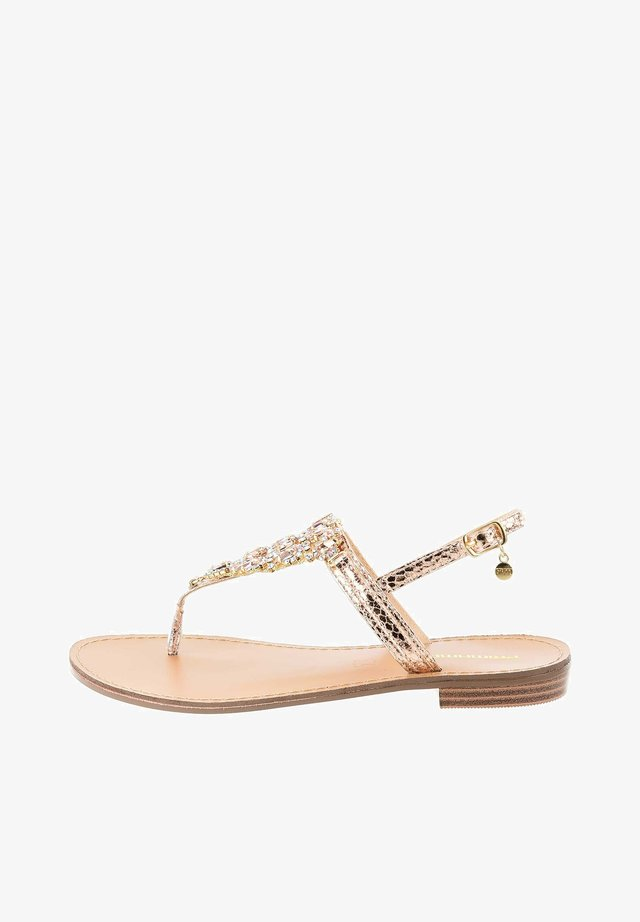 BASILICATA - T-bar sandals - Gold