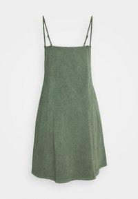 edc by Esprit - DYED ACID WASH - Vestito di maglina - khaki green - 1