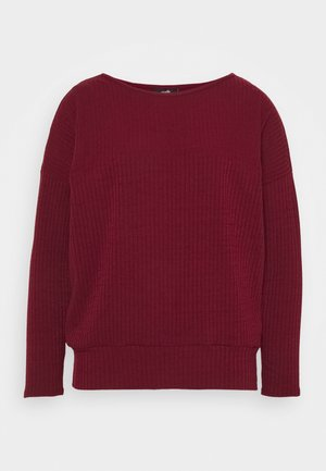 DOLMAN - Long sleeved top - berry