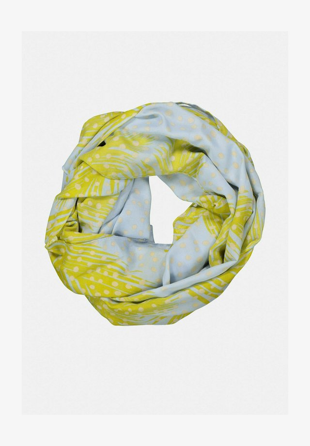 Sjaal - yellow, light blue