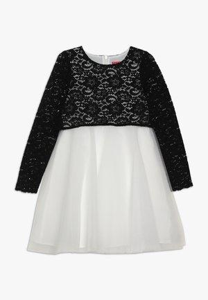 ELISA - Koktejlové šaty/ šaty na párty - blanc/noir