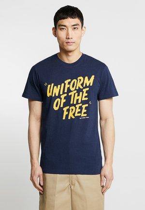 GRAPHIC LOGO - Camiseta estampada - sartho blue