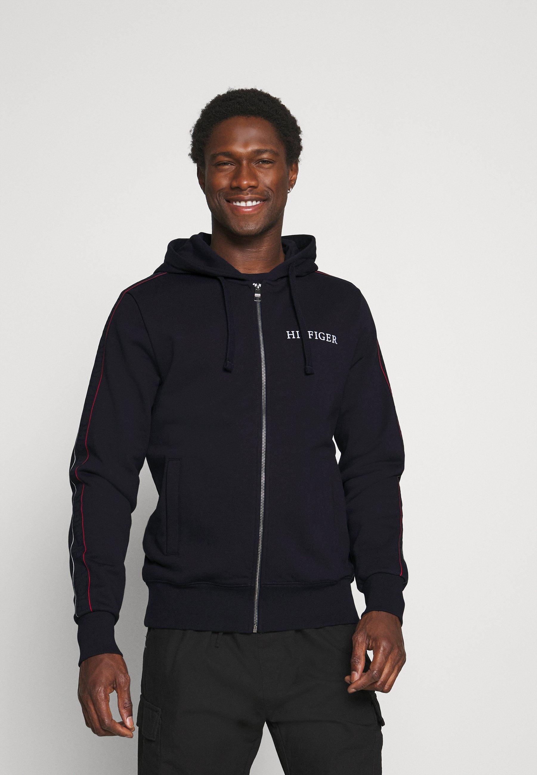 Men TAPED ZIP THRU HOODIE - Zip-up sweatshirt