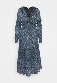 MAXI DRESS WITH MINI RUFFLES - Maxi dress - chambray