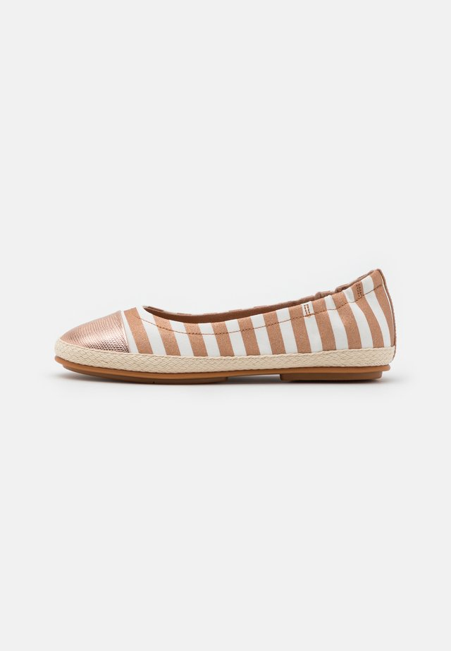 ALLEGRO STRIPE - Ballerinasko - white/rose gold