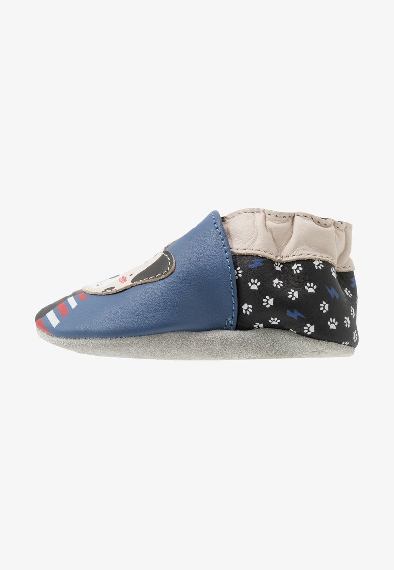 Robeez - PUNKY DOOGY - Chaussons pour bébé - bleu/noir