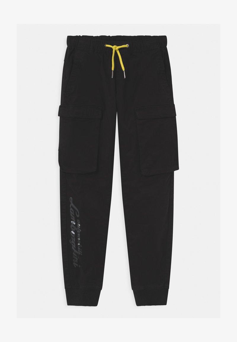 Automobili Lamborghini Kidswear - LOGOSCRIPT SPORTY - Cargo trousers - black pegaso
