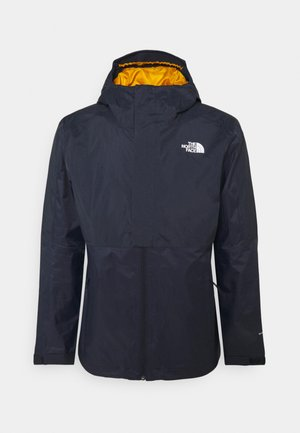 NEW DRYVENT TRICLIMATE 2-IN-1 - Down jacket - aviator navy/citrine yellow