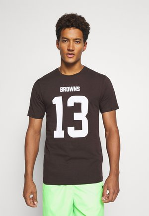NFL ODELL BECKHAM CLEVELAND ICONIC NAME AND NUMBER - Club wear - brown