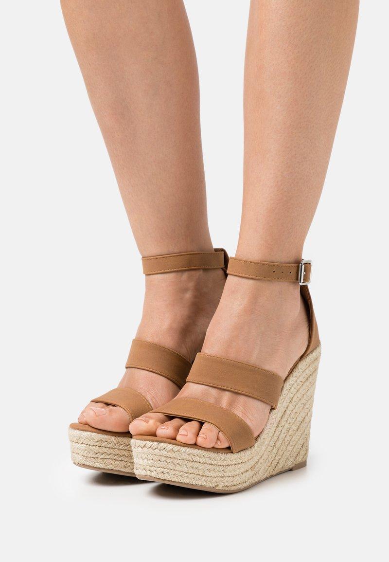 Rubi Shoes by Cotton On - BRADY WEDGE  - Platform sandals - tan