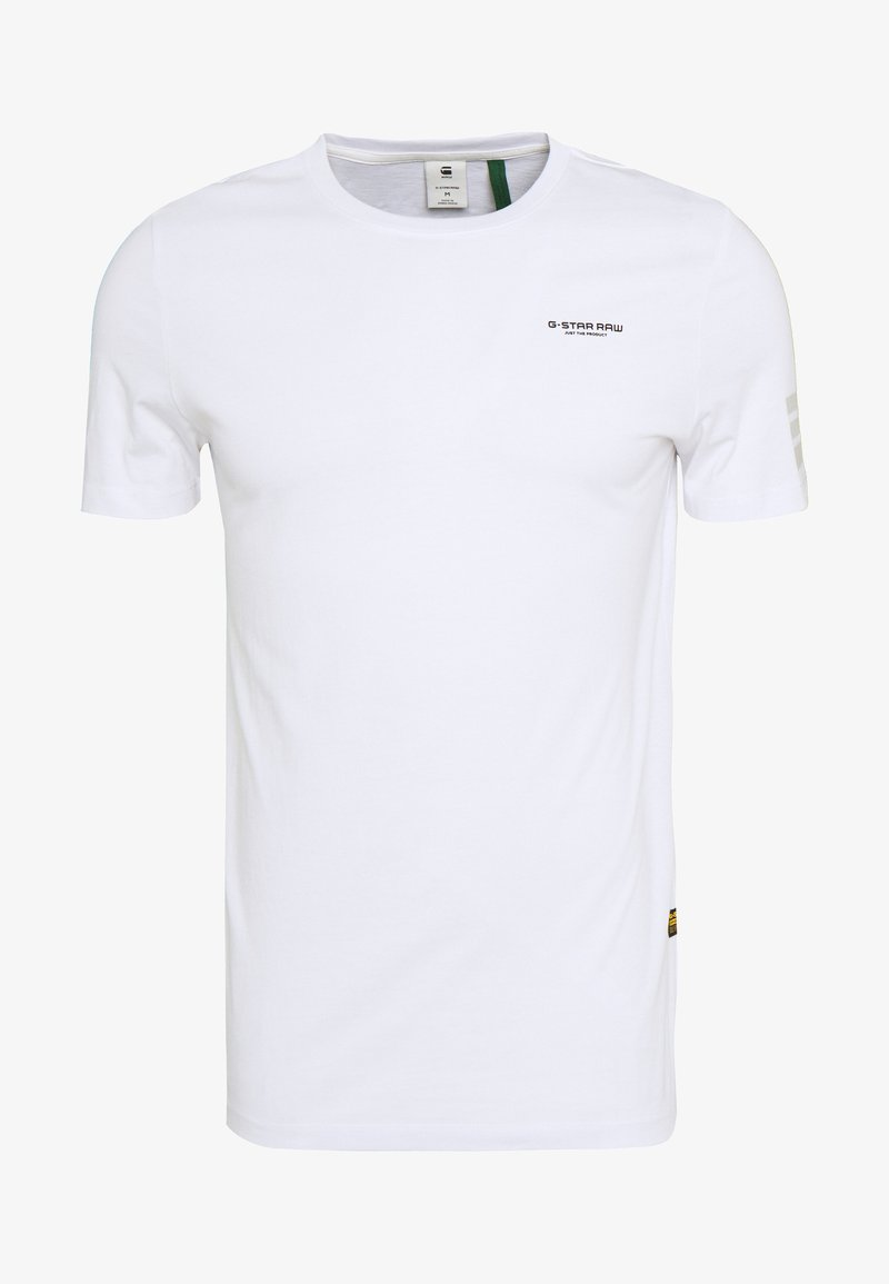 G-Star - TEXT GR SLIM - T-shirt con stampa - white