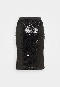 CAPSULE by Simply Be - VALUE SEQUIN SKIRT - Pencil skirt - black - 1