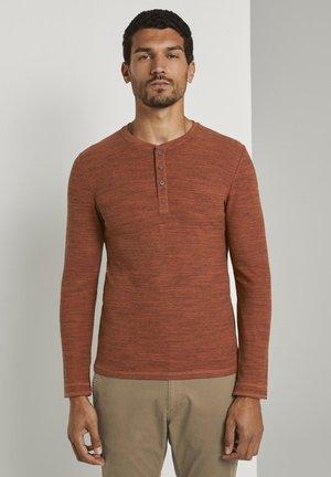 Long sleeved top - orange dark melange