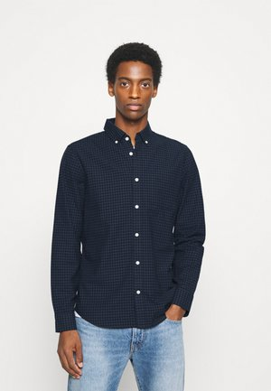SLIM OXFORD - Shirt - navy gingham