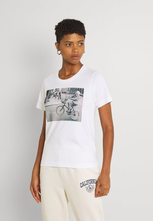 MYSEN BIKE WHEELIE - T-shirt print - white