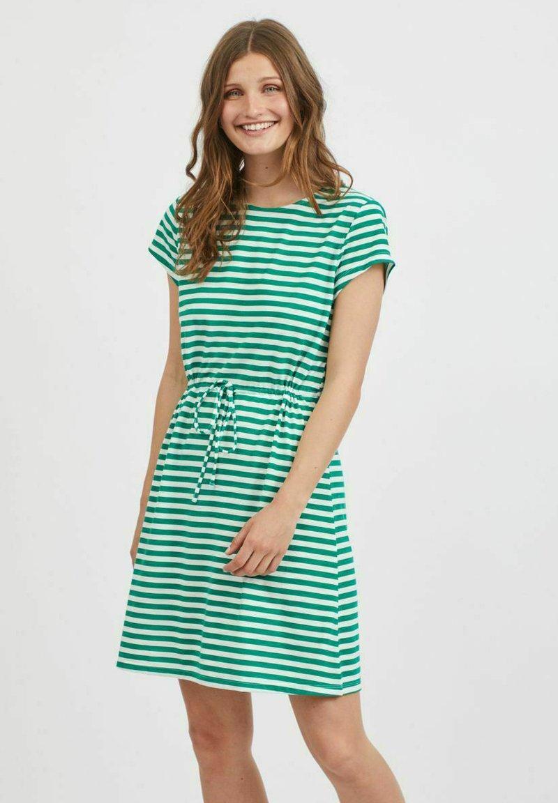 Vila - VIMOONEY STRING - Jersey dress - pepper green