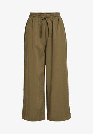 OBJTILDA TALULA 7/8 PANT NOOS - Trousers - burnt olive