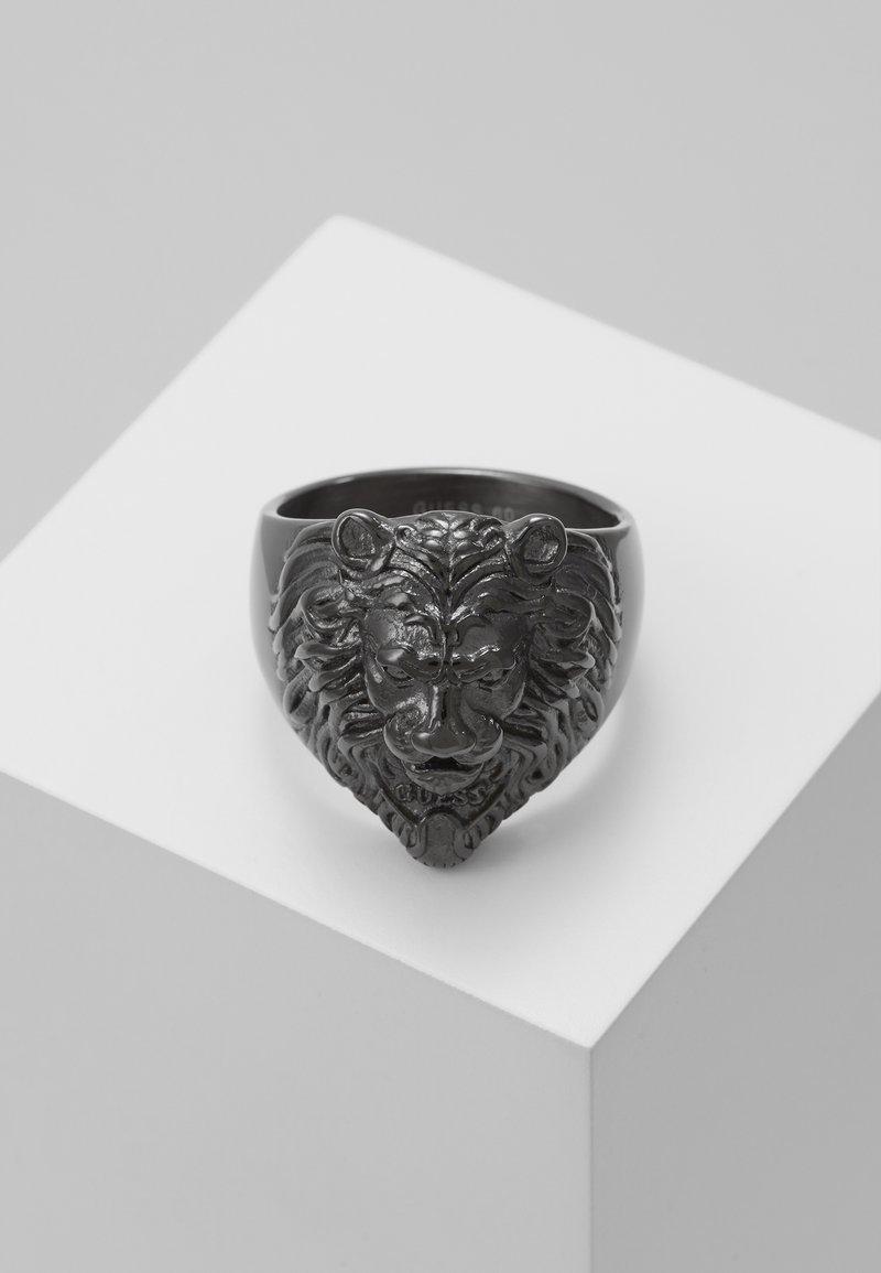 Guess - LION HEAD RING - Ring - gunmetal