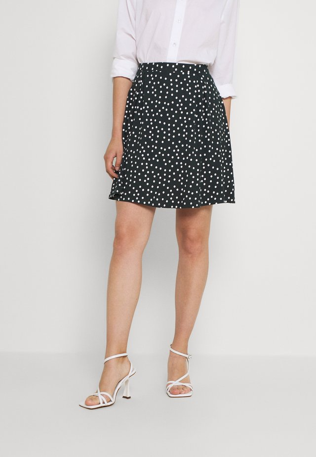 A-line skirt - white/dark green