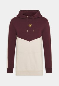SIKSILK - CUT AND SEW OVERHEAD HOODIE - Hoodie - wine/cream - 3