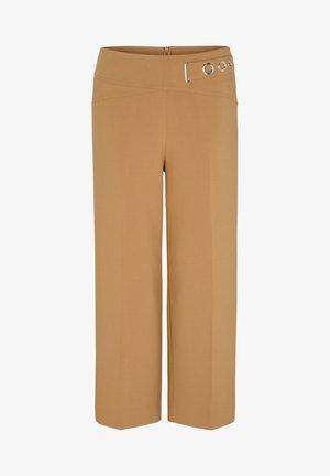 MIT ZIER-RIEGEL - Trousers - camel