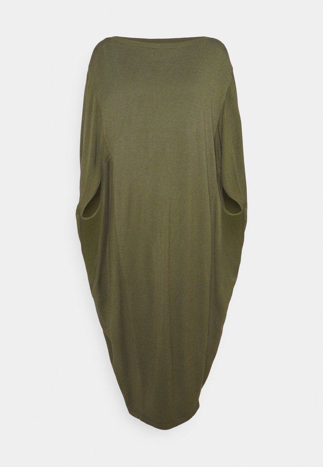 PIPPA DRESS - Stickad klänning - dusky green